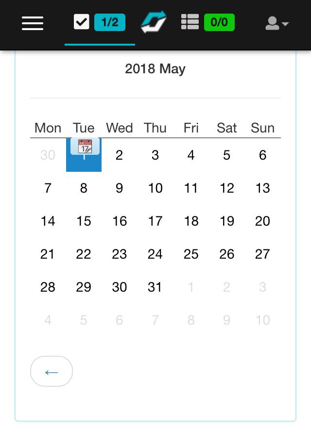 My habit calendar